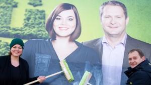 Grünen-Wahlkampf im Windschatten