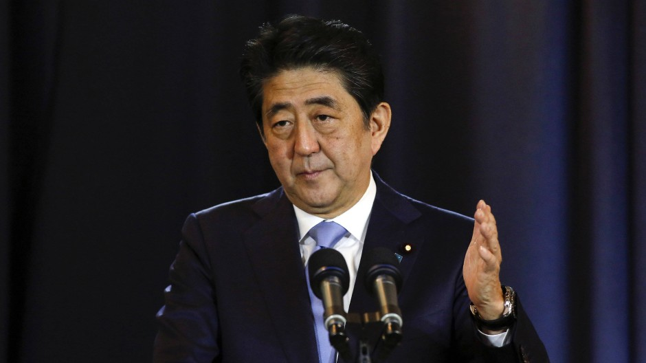 Der japanische Ministerpräsident Shinzo Abe