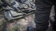 Ranger mit Waffen im Kruger-Nationalpark in Südafrika