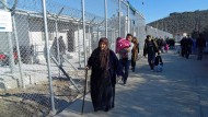 """Da war der """"Hotspot"""" noch eine Baustelle: Registrierungszentrum in Moria auf Lesbos Anfang Februar"""