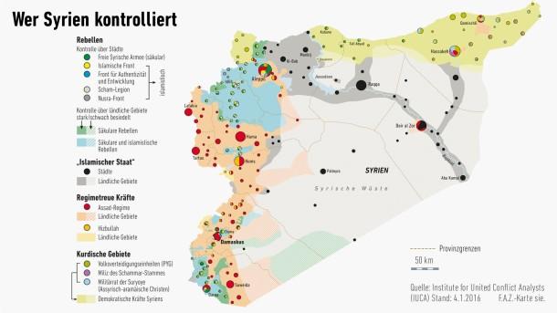 Syrien Karte Krieg.Lage In Syrien Nach Fünf Jahren Bürgerkrieg Unübersichtlich