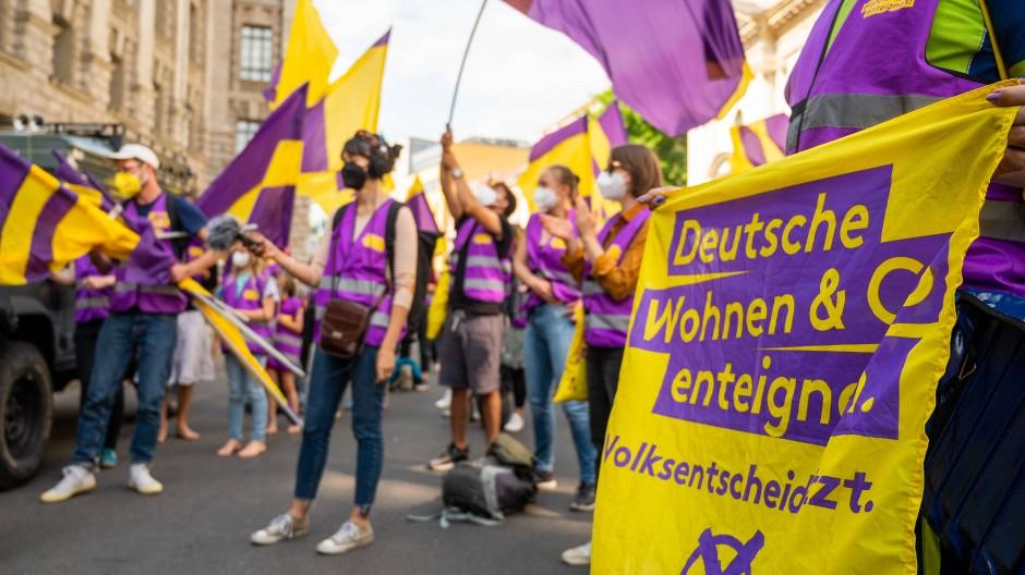 Erfolgreich am Wahltag: Die Berliner Initiative zur Enteignung großer Wohnungsbaukonzerne