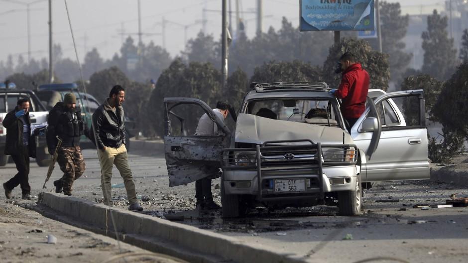 Traurige Normalität: Ein Bombenanschlag auf ein Auto am 2. Februar in Kabul