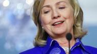 """Hillary Clinton: """"Unser Ziel ist, dass der Wunsch des syrischen Volkes nach einem demokratischen Wandel Wirklichkeit wird."""""""