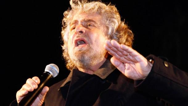Grillo prognostiziert Zusammenbruch des politischen Systems in Italien