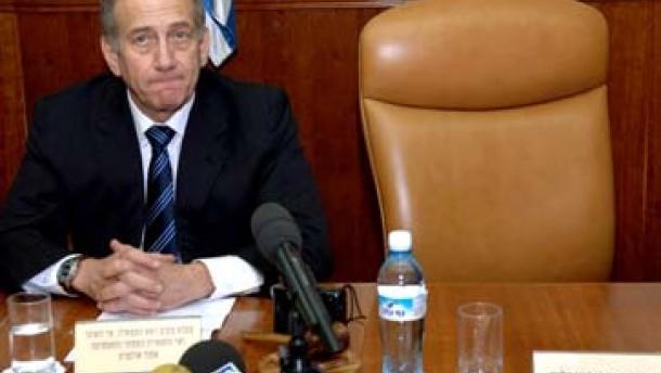 Olmert übernimmt die Amtsgeschäfte