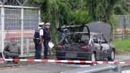 Pistole und Machete im Auto von Florian H. entdeckt