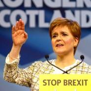 Nicola Sturgeon bei einer Kundgebung in Glasgow am Mittwoch