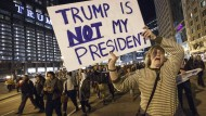 Anti-Trump-Protest vor dem Trump-Tower in Chicago
