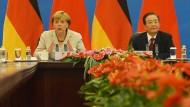 Ein Schwerpunkt der Regierungskonsultationen in Peking ist die Schuldenkrise.
