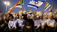 Gegen Ausgrenzung; Der geistliche Führer der israelischen Drusen, Scheich Muafak Tarif, bei einer Demonstration am vergangenen Samstag in Tel Aviv.