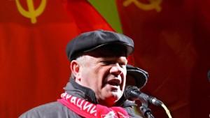 Sjuganow erwägt Rückzug von Kandidatur