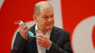 Olaf Scholz, SPD-Kanzlerkandidat und Bundesfinanzminister, beim ersten digitalen Debattencamp der Sozialdemokraten Mitte Dezember in Berlin