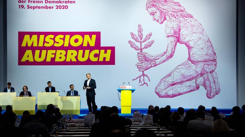 Bundesparteitag der FDP am 19. September 2020 in Berlin