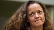 Zur Aussage bereit: Die Hauptangeklagte im NSU-Prozess, Beate Zschäpe, am 10.11.2015 im Saal des Oberlandesgerichtes in München.