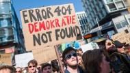 Demo gegen die Urheberrechtsreform im März 2019 in Stuttgart