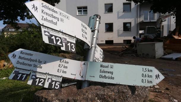Nordrhein-Westfalen rechnet mit Flutschäden in zweistelliger Milliardenhöhe