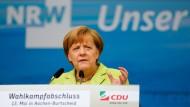 Angela Merkel am Samstag im Aachener Stadtteil Burtscheid