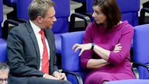 Lindner und Göring-Eckhardt loten wieder Gemeinsamkeiten aus