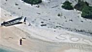 Nachricht im Sand rettet gestrandete Seeleute