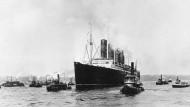 """1. Mai 1915: Die """"Lusitania"""" vor New York"""