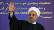 Irans Reformer dürfen hoffen: Die Liste von Präsident Hassan Ruhani konnte in Teheran kräftig punkten.
