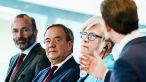 Europäische Volkspartei sichert Armin Laschet Rückhalt zu