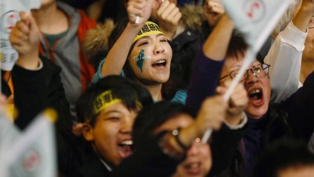 Oppositionskandidatin gewinnt Wahl in Taiwan