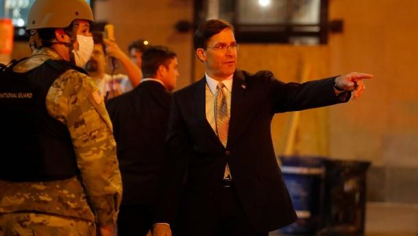 Pentagon-Chef will Militär nicht bei Protesten einsetzen