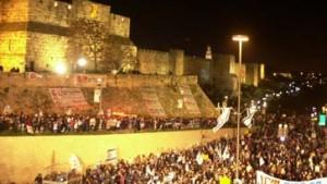 Hunderttausend demonstrieren für ein israelisches Jerusalem