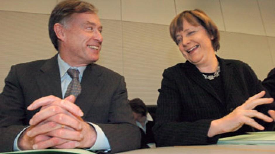 Bereit für die höchsten Ämter im Staate: Köhler und Merkel