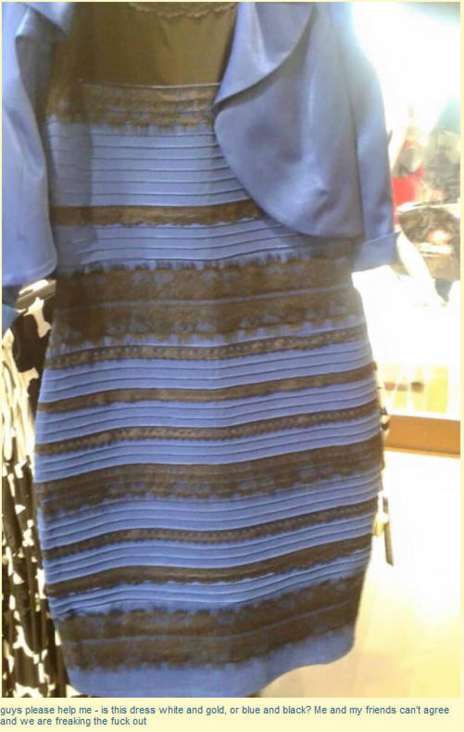 ein kleid spaltet das internet: welche farbe hat es?
