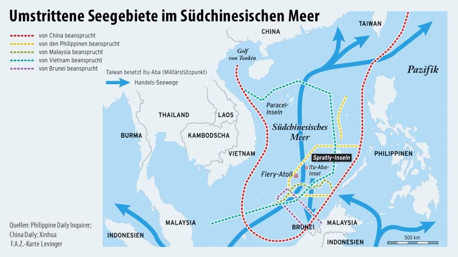 Bilderstrecke zu: Chinas Inselbau sorgt für Spannungen im ...