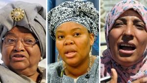 Friedensnobelpreis an drei Kämpferinnen für Frauenrechte