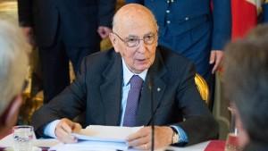 Napolitano kandidiert für zweite Amtszeit