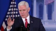 Amerikas Vizepräsident Mike Pence spricht am 26. Januar auf einem Kongress in  Philadelphia, Pennsylvania.