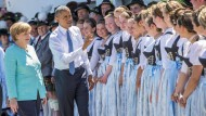 Merkel und Obama besuchen Krün in Bayern