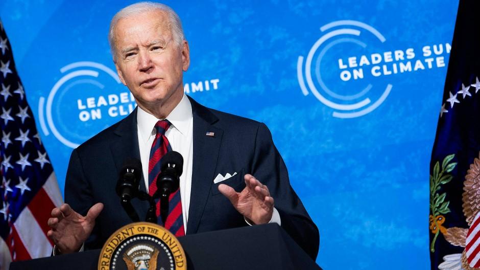 Amerika ist wieder dabei: Präsident Biden beim virtuellen Klimagipfel