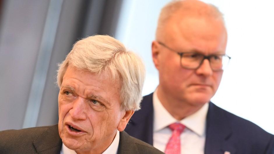 Weggefährten: Hessen Ministerpräsident Volker Bouffier und der verstorbene Finanzminister Thomas Schäfer.