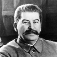 Josef Stalin an seinem Schreibtisch im Kreml auf einem Foto, herausgegeben im Februar 1950