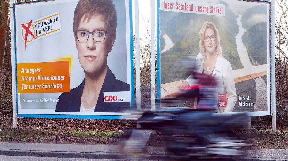 CDU und SPD trennen in der letzten Umfrage noch fünf Prozentpunkte.