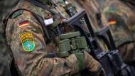 Ein Bundeswehrsoldat der Enhanced Forward Presence (eFP) Battle Group am 10. Oktober 2019 in Rukla