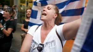 Die besprühten Griechen