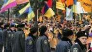 Proteste vor dem ukrainischen Parlament