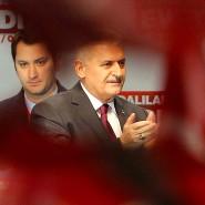 Der türkische Geheimdienst untersteht Ministerpräsident Binali Yildirim, hier bei einem Auftritt für das Referendum über die Einführung eines Präsidialsystems in Oberhausen.