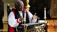 Mit der Botschaft der Liebe gegen Trumps Politik: Bischof Michael Curry, Oberhaupt der Episkopal-Kirche bei seiner Predigt zur Hochzeit von Prinz Harry und der amerikanischen Schauspielerin Meghan Markle