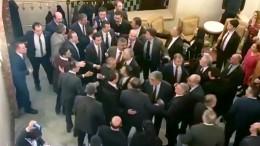 Schlägerei im Parlament von Ankara