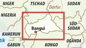 Karte / Zentralafrikanische Republik
