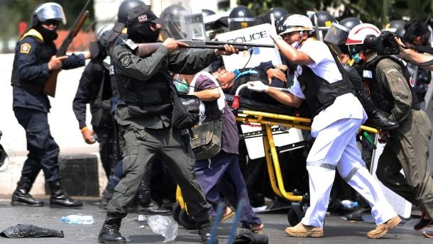 Schusswechsel in Bangkok