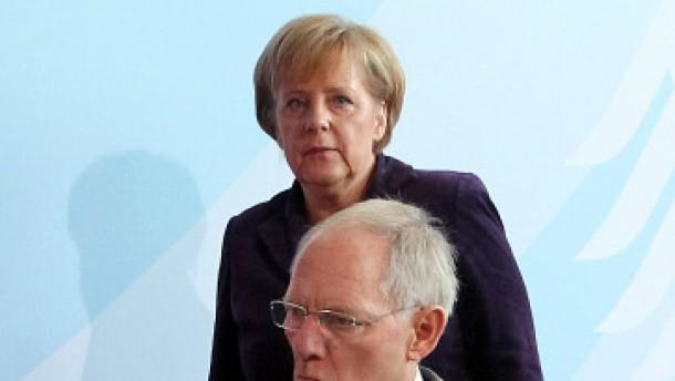 Merkel stärkt Schäuble